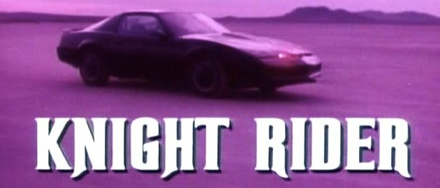 Screenshot des Intros von Knight Rider